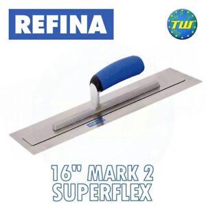 Refina 16in SuperFLEX Trowel MARK 2 - Stainless Steel Plaster Skimming Trowels