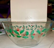 "Lenox Holiday Bowl 9.5"" *New In Box* Sku:226543 Upc: 605199004145"