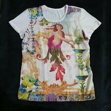 Angel Printed Silk Top