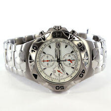 Seiko SNA271 stainless steal chronograph watch w/ alarm, Dual Time, Date for men