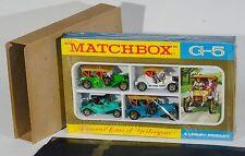 """MATCHBOX G-5 """"famoso AUTO D'Antan"""" Gift Set. 4 VETTURE. EX-shop-STOCK SIGILLATO!"""