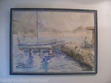 peinture aquarelle style Roland Dubuc