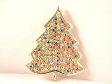 Christmas Tree Pin Covered with Balls Item 1858 Figural Brooch