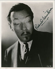 """10""""x8"""" PHOTO PRINTED AUTOGRAPH - ROLAND WINTERS - CHARLIE CHAN"""