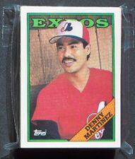 Montreal Expos 1988 Topps Team Set Denny Martinez