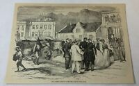 1876 magazine engraving ~ MARKETPLACE, Cape Town, Africa