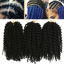 3pcs/pack Synthetic Hair Extensions 8'' Short Mambo Twist Curly Crochet Braid