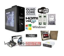 Pc Desktop completo AMD Quad Core Wifi/hd 1tb/ram 8gb/hdmi/usb 3.0 assemblato