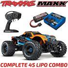 TRAXXAS MAXX 4S BRUSHLESS 4WD 1/10 MONSTER TRUCK ORANGE 4S LIPO & CHARGER COMBO