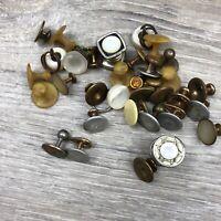 lot vintage collar tuxedo shirt studs Cuff links Mens Estate Jewelry