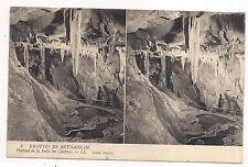 carte postale stéreo , grottes de bétharram ,plafond de la salle des lustres