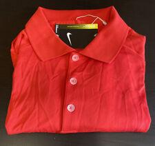 Mens Size Medium Nike Polo Golf Shirt Red Short Sleeve 509167-657