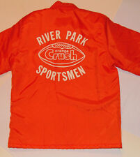 VINTAGE 'ORANGE CRUSH' SODA NYLON JACKET! BRIGHT ORANGE COLOR! QUILTED LINING! S