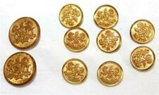 Vintage Goldtone Waterbury Button Co Uniform Coat Buttons 2 Sizes Lot of 10