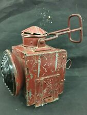OLD VINTAGE TRAIN RAILWAY LIGHT BIG SIZE IRON  LAMP/LANTERN,COLLECTIBLE