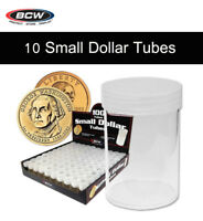 10 BCW Coin Tubes for Small Dollar Size w/ Screw On Caps Top Quality Storage