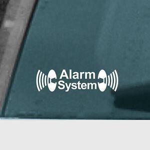 5 Alarm System weiß Aufkleber Tattoo Auto Fenster Außenseite getönte Scheibe