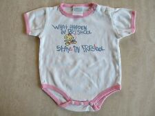 "Cute Funny Novelty Baby 12M Bodysuit Snap-T ""What happens in preschool...!"" NWOT"
