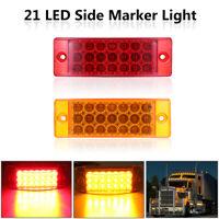12V 21 LED Bulb Side Marker Rectangle Light Indicator Lamp Truck Lorry Trailer