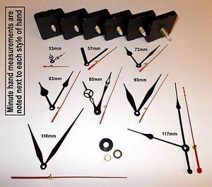 Replacement Quartz Clock Mechanism, Multiple Movement / Hands, DIY Repair Kit