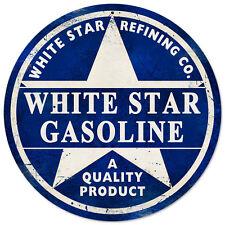 WHITE STAR Benzina In Acciaio Rotondi Diametro 360mm segno (PST)