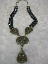 """(Hematite)19""""L.4-Sta tion Necklace (Orig.$249.95) Heidi Daus """"Classically Suited"""""""