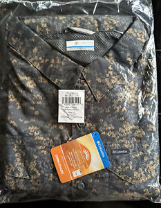 NEW COLUMBIA PFG Men's Silver Ridge Lite 1X LS Shirt Charcoal Camo Plaid BIG XL