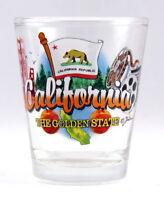 CALIFORNIA GOLDEN STATE ELEMENTS SHOT GLASS SHOTGLASS