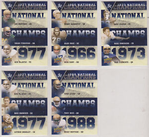 2013 UPPER DECK UNIVESITY OF NOTRE DAME NATIONAL CHAMPIONS TRIOS CARD SET