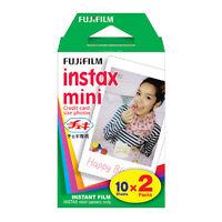 NEW Twin Pack FujiFilm Instax Mini Instant Film 20 Photos