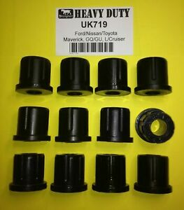 SHACKLE BUSH KIT FRONT for TOYOTA LANDCRUISER HJ75 HZJ75 HDJ75 70 SERIES >11/99