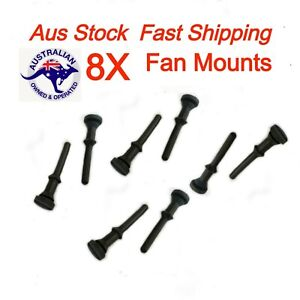 PC Case Fan Noise Vibration Control Rubber Mount Rivet Pack - 6mm Deep Fan 8pc