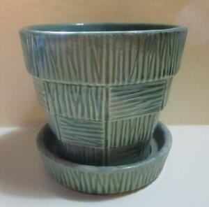 McCoy Green Pottery Flower Pot