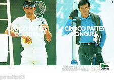 PUBLICITE ADVERTISING 016  1982  les polos homme LACOSTE  ( 2p) croco