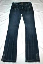 CHIC People for Peace Distressed Studded Skinny Flare Medium Wash Denim Jeans 29