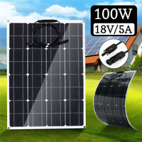 100W 18V 5A Flexible Solar Panel MC4 Car RV Boat Camping Hiking Solar Charger