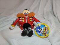 "Sonic The Hedgehog Dr. Eggman 8"" Soft Plush Figure Jakks Pacific Go Sega - NWT"