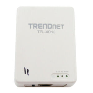 Original TRENDnet TPL-401E 500 Mbps Powerline Ethernet AV Adapter White US