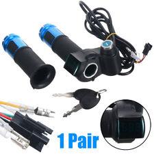 60V 48V 36V 24V EBike Electric Scooter Throttle Grip Handlebar LED Digital Meter