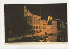 The Guildhall By Night York Postcard 310b