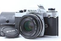 """READ"" NIKON FE 35mm SLR SILVER Camera + NIKKOR AI-s AIS 50mm f/1.8 Lens Japan"