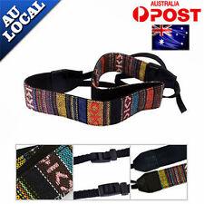 Soft Studio Camera Stripe Neck Shoulder Strap Belt For Canon Nikon Digital SLR