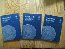 Statehood Quarters 3 Whitman Albums 100pc Set 1999-2008 + Puerto Rico