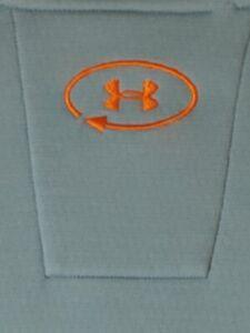 Under Armour  UA Catalyst 1/4 Zip Pullover Light Blue Size MD/M Orange Logo