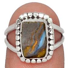 Boulder Opal - Australia 925 Sterling Silver Ring Jewelry s.6 AR80620 15U