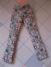2000 BARBIE DOLL KITTY FUN CLOTHES-Geometric Squares Circles Multi Print Pants
