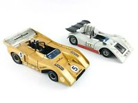 Vintage Lot of 2 Polistil 1/26 Can Am Cars - McLaren Chevy M8F & B.R.M. P. 154