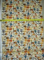 Guitar Guitars Country Multi Bright  QT 27744 AE Durable Cotton fabric