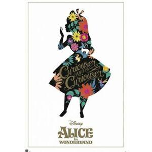 ALICE IN WONDERLAND - SILHOUETTE POSTER 24x36 - DISNEY 3626