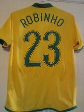 Brazil 2006 Home Robinho 23 Football Shirt Size Medium /39706